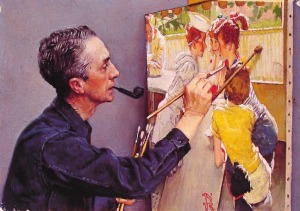 portrait-of-norman-rockwell-painting-the-soda-jerk-1953