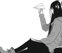 black-and-white-girl-lonely-manga-Favim.com-1859783